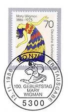 BRD 1986: Mary Wigman nr 1301 con potabile Bonner solo tag-timbro speciale! 1a 159
