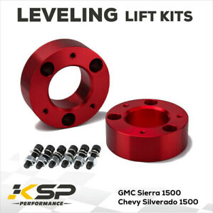 """3"""" Front Leveling lift kit for 2007-2021 Chevy Silverado GMC Sierra 1500 RED"""