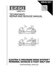 EZ Go E-Z-GO 2001-2007 Electric Freedom Fleet Shuttle Golf service manual on CD