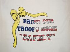 Vintage Bring Our Troops Home Safely Military Support US Army T Shirt L