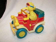 Sesame Street  Jalopy Car Big Bird and bird friend  Vintage ILLCO  70's/80's?