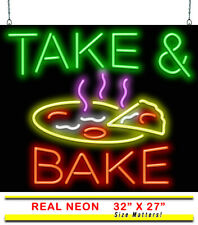 "Take & Bake Neon Sign | Jantec | 32"" x 27"" 