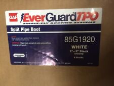 (Box of 6) GAF EverGuard 85G1920 Split Pipe Boot 45-mil Thick 1 in - 2 in. (NEW)