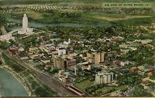 VTG Air View of Baton Rouge Louisiana LA 1954 Postcard
