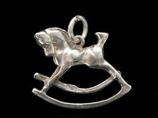 Rocking Horse charm Sterling silver 925 charmmakers