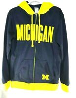ProEdge Michigan Wolverines Womens LS Hoodie Jacket Zip Up Blue Yellow Size S