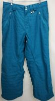 Oakley Womens Snowboard Ski Pants Size Large Teal Blue Insulated Winter Snow