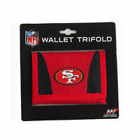 New NFL San Francisco 49ers Chamber Tri-Fold Trifold Wallet Official Licensed