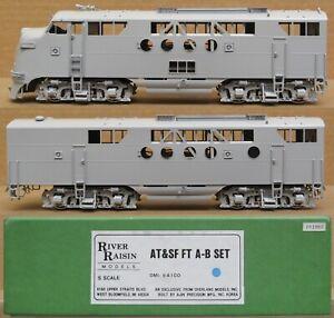 River Raisin Models/OMI - AT&SF EMD FT A/B Diesel Engine Set *BRASS* S-Scale NIB