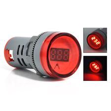 New 22MM AC60-500V LED Voltmeter Voltage Meter Indicator Pilot Light DIY Red