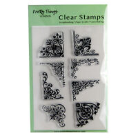 Clear Stamps Embellishment Patterns Background Corners Pretty Things London Set