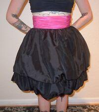 Betsey Johnson Chelsea Bubble Skirt Black/Pink Party Evening Punk PinUp sz 4