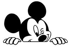 Etiqueta del vinilo de corte Adhesivos para pantalla trasera coche arranque guiño Micky Mouse espías