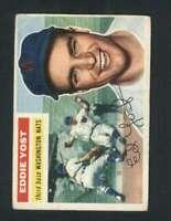 1956 Topps #128 Eddie Yost VG/VGEX Senators 94666
