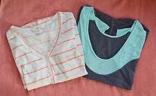 Billabong/Asics Women's Set of 2 Different Blouses - Oatmeal/Gray sz M