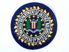 VINTAGE FBI EMBROIDERED SHOULDER PATCH IRON / SEW-ON CLOTH WOVEN BADGE