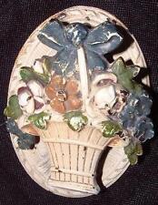 """Cast Iron Door Knocker  by Hubley  """"Flowers in splint basket"""" #612"""