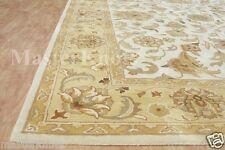 Hanan Gold Ivory 5' x 8' Persian Floral Handmade 100% Wool Soft Area Rug Carpet