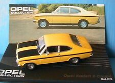 OPEL KADETT B COUPE 1965 1973 IXO 1/43 JAUNE AVEC BANDES NOIRES YELLOW BLACK