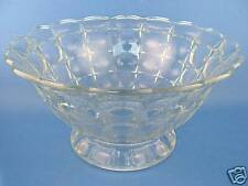 "Indiana Glass Constellation Clear 10"" Footed Bowl NICE"