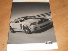 2013 FORD MUSTANG BOSS 302 FACTORY FORD OWNERS MANUAL SUPPLEMENT NEW