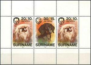 Surinam 1976 SG#MS843 Child Welfare Pet Dogs MH M/S #D86497