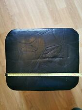 Footstool / Pouffe Small Box Stool Black faux leather British Made Fabric
