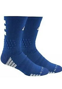 adidas Creator 365 Basketball Crew Socks (1-Pack), Blue/White , Size  XL 12-16
