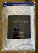 Ralph Lauren Home White Label Wickliff Cream Silk Velvet Quilted Euro Sham $350