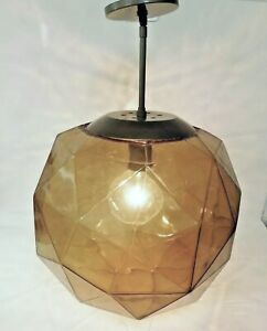 LARGE Geodesic Dome Globe Pendant Lamp HABITAT Mid Century Modern Hanging Light