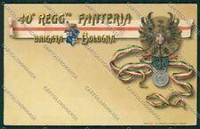 Bologna Militari Fanteria cartolina QQ9132