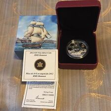 Fine Silver Coin - HMS Shannon - Mintage: 10000 (2012)