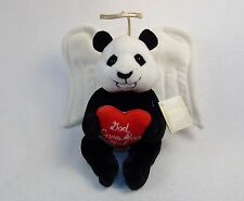 "10"" Plush Panda Guardian Angel ~ Soft, Cute, Cuddly, & Comforting"
