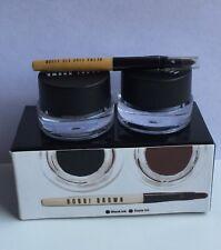 Bobbi Brown Long Wear Gel Eyeliner Set With Brush Black Ink & Sepia Ink