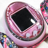 Bandai Used Tamagotchi iD L Pink w/ Strap Virtual pet Japan