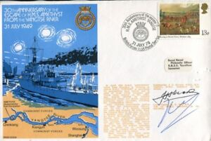 Yangtse River Incident HMS Amethyst commander signed cover