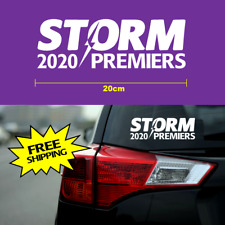 STORM 2020 Premiers sticker 20cm NRL Melbourne FC members white vinyl car decal