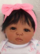 "Reborn African American/Ethnic/Biracial 17"" Preemie Baby Girl Doll  ""Lollipop"""