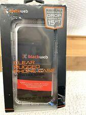 Blackweb Rugged Phone Case + Rotating Holster iPhone 11 Pro Clear NEW 201945