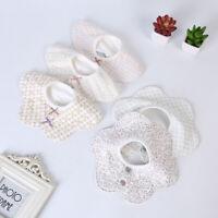1Pcs Baby 360° Rotating Bibs Waterproof Saliva Towel Kids Flower Bib Feeding