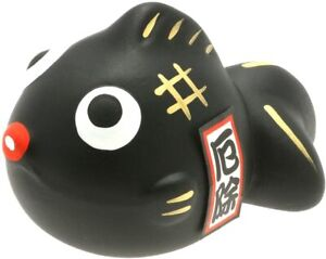 Kotobuki Kingyo Black Goldfish Lucky Collectible Figure Warding Off Bad Spirits