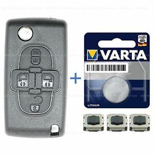 Schlüssel 4 Tasten Ersatz Gehäuse für Citroen Peugeot 807 C8 1007 Phedra repair