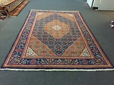 Sale Tabrizz Hand Knotted Vintage Area Rug Traditional Carpet Blue 6'3x9'7,#2817