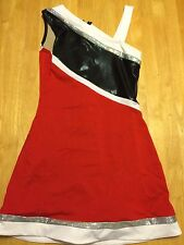 Cheerleading Pom Uniform Dress Small Red varsity spirit