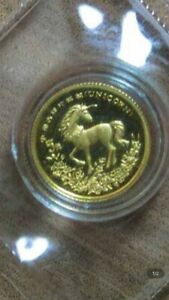 1994 china unicorn 1/20 gold coin