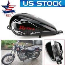 Motorcycle 3.4 Gallons Fuel Gas Tank For Honda CMX250 CA250 Rebel 85-2014 Black