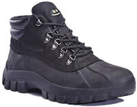 Men Leather Winter Boots Safety Snow Work Shoes Sturdy Job Industrial Size 6 -13