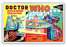 DR WHO  GIVE A SHOW PROJECTOR BOX ARTWORK  NEW JUMBO FRIDGE LOCKER MAGNET