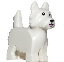 LEGO NEW WHITE MINIFIGURE TERRIER CUTE DOG SCOTTY ANIMAL PET PUPPY FRIENDS PIECE