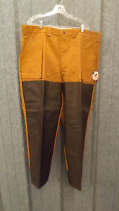 NEW Vtg Ideal Brown Water Repellent Hunting Pants Reinforced sz 44 Long USA made